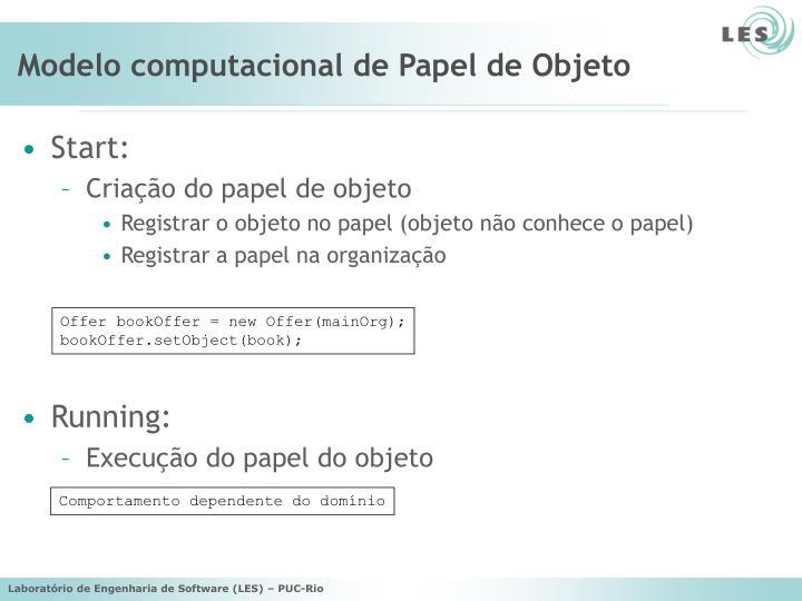 Modelo computacional de Papel de Objeto