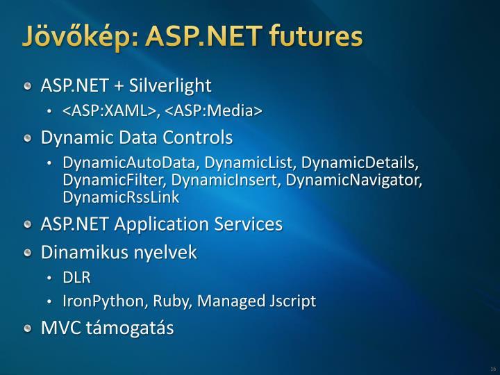 Jövőkép: ASP.NET futures