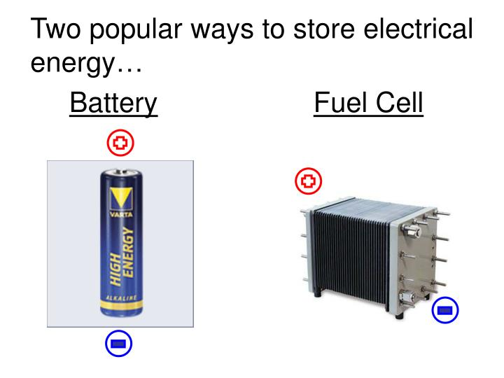Two popular ways to store electrical energy…
