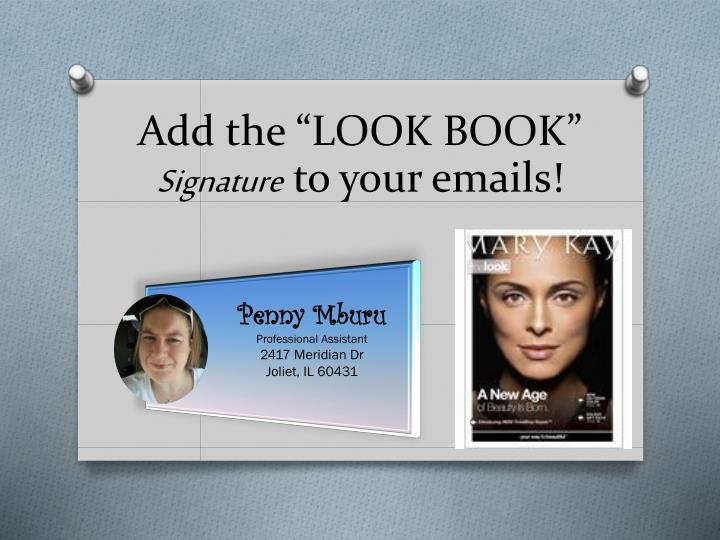 Add the look book signature to your emails