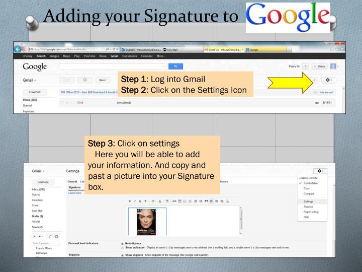 Adding your Signature to