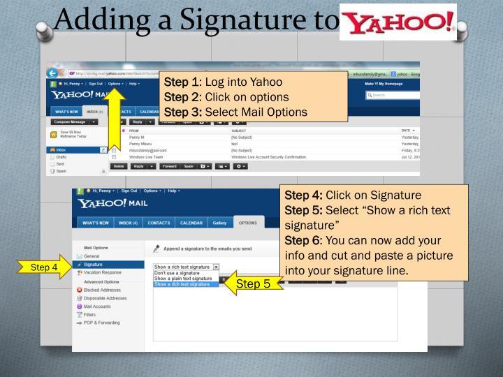 Adding a Signature