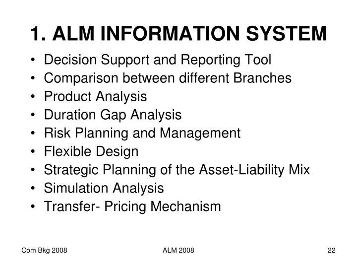 1. ALM INFORMATION SYSTEM