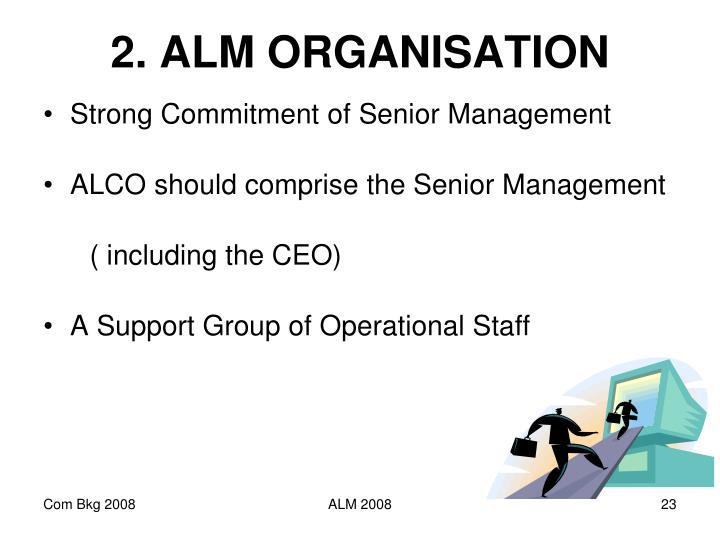 2. ALM ORGANISATION