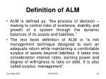 definition of alm