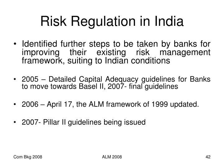 Risk Regulation in India