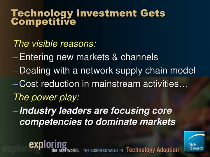 Technology Investment Gets Competitive