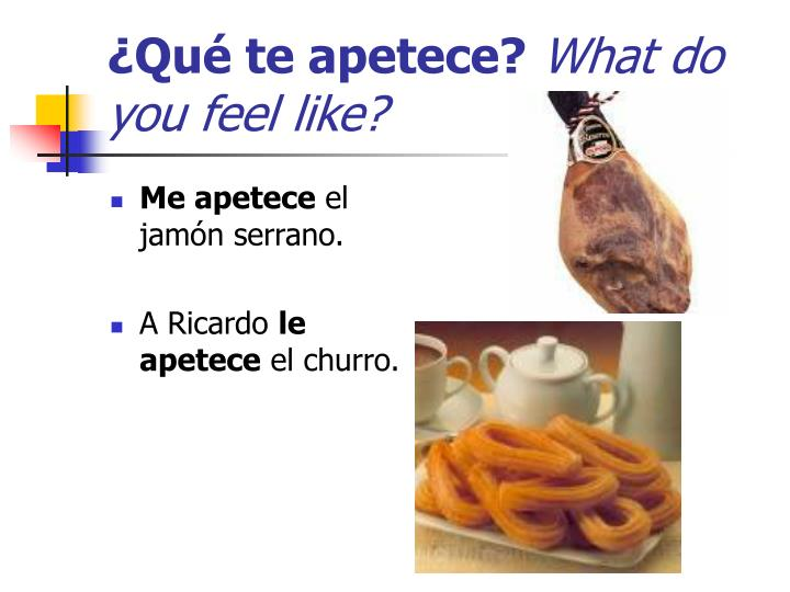 ¿Qué te apetece?