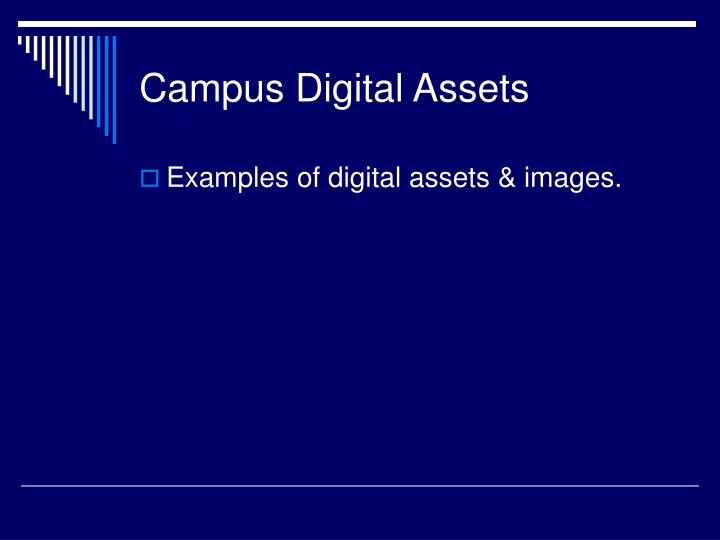 Campus Digital Assets