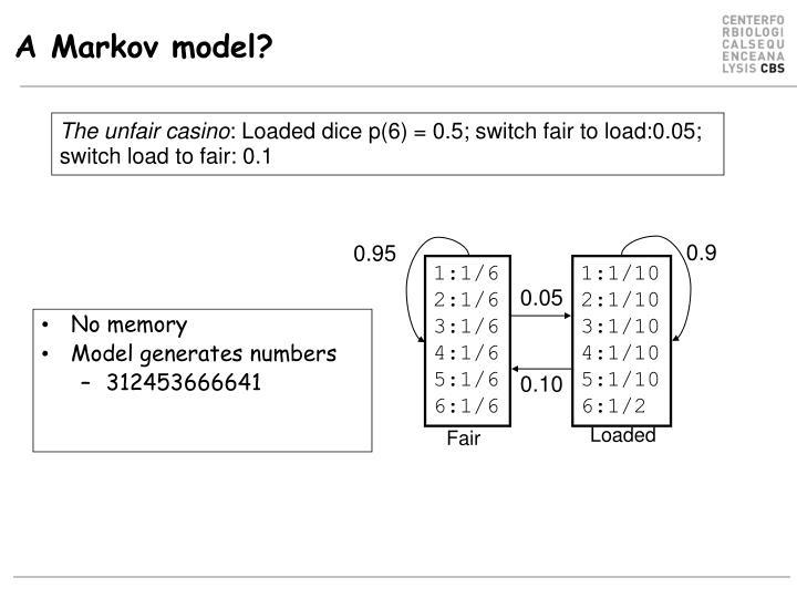 A Markov model?