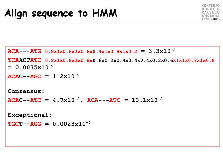 Align sequence to HMM