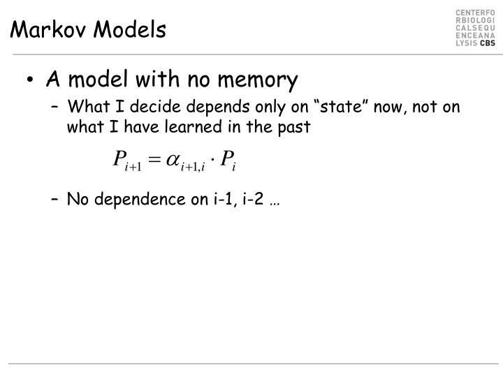Markov Models