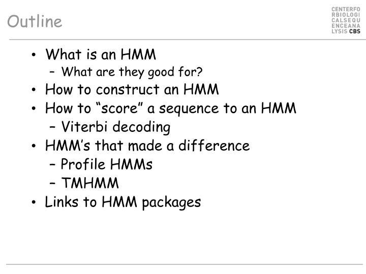 What is an HMM