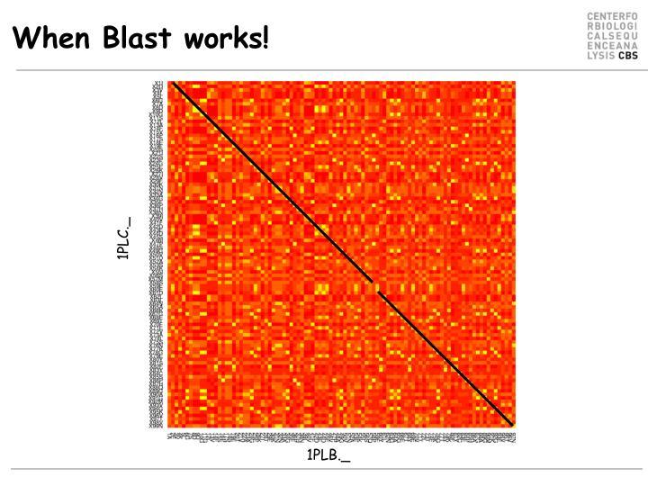 When Blast works!