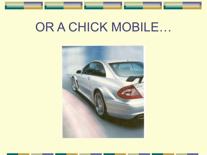 OR A CHICK MOBILE…