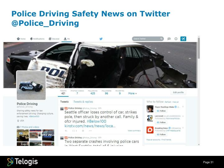 Police Driving Safety News on Twitter
