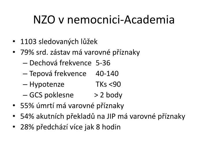 NZO v nemocnici-Academia