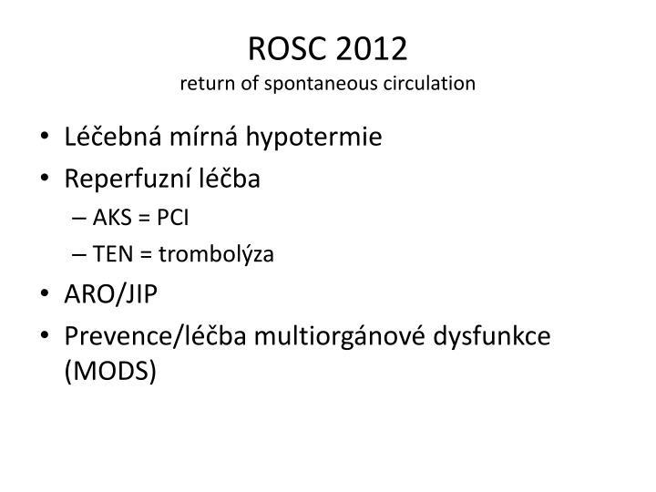 ROSC 2012