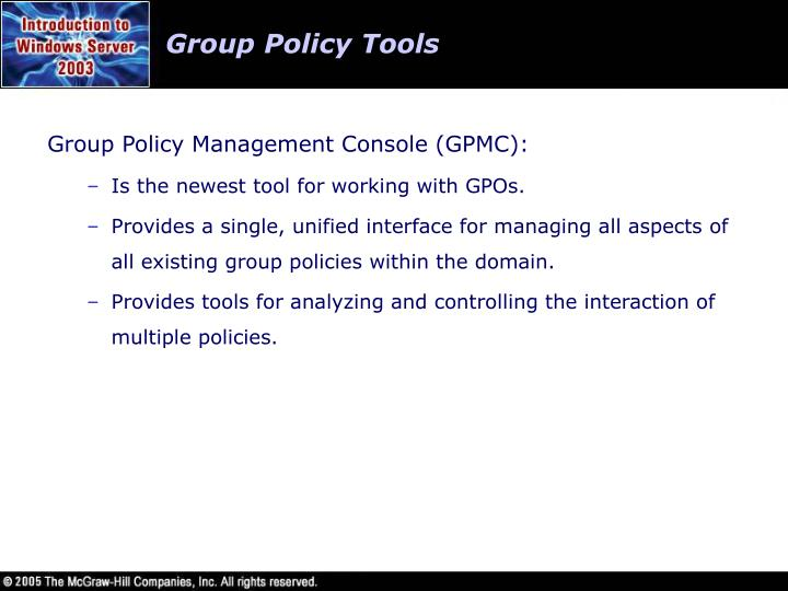 Group Policy Tools