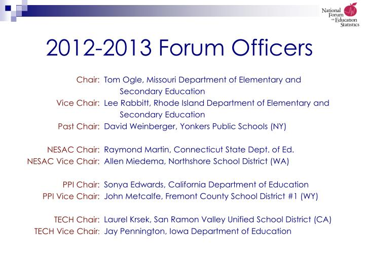 2012 2013 forum officers