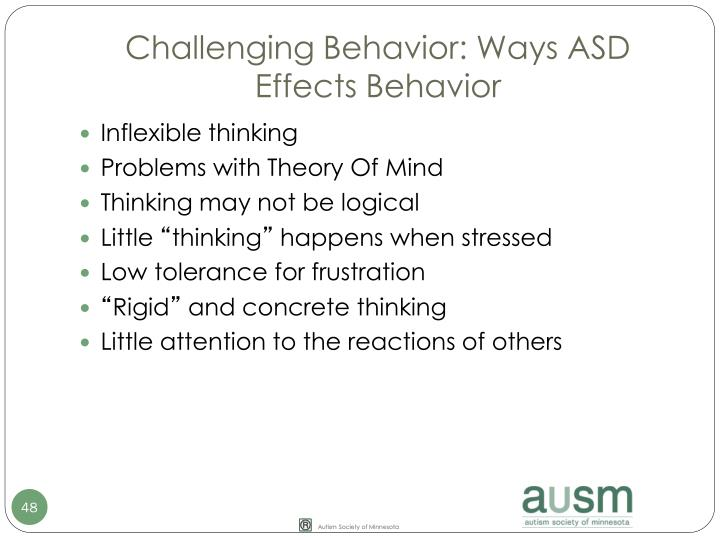Challenging Behavior: Ways ASD Effects Behavior