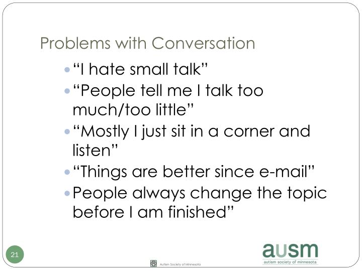 Problems with Conversation