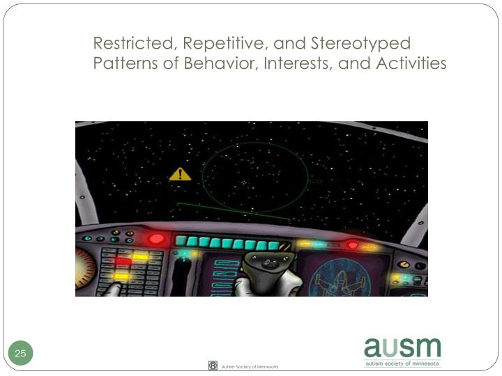 Restricted, Repetitive, and Stereotyped Patterns of Behavior, Interests, and Activities