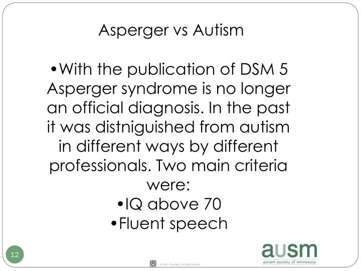 Asperger vs Autism