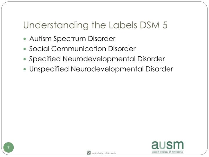 Understanding the Labels DSM 5