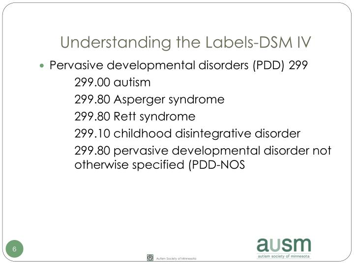 Understanding the Labels-DSM IV
