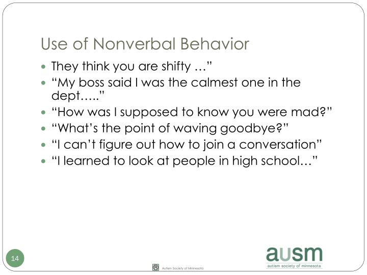 Use of Nonverbal Behavior
