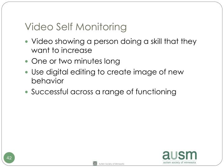 Video Self Monitoring