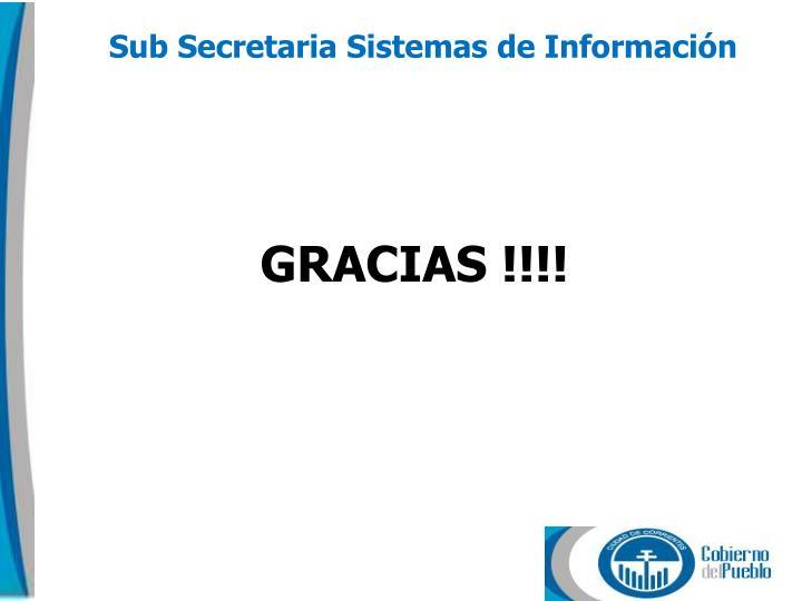 Sub Secretaria Sistemas de Información