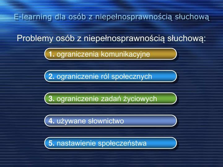 E-learning dla osób z niepełnosprawnością słuchową