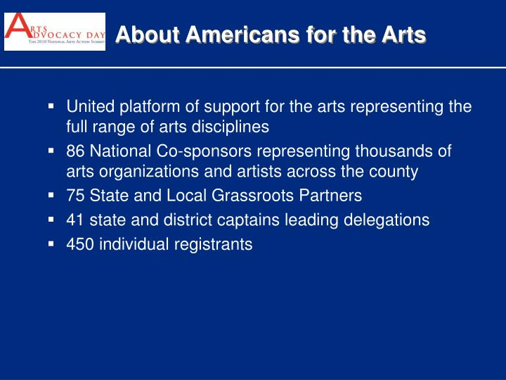 About Americans for the Arts