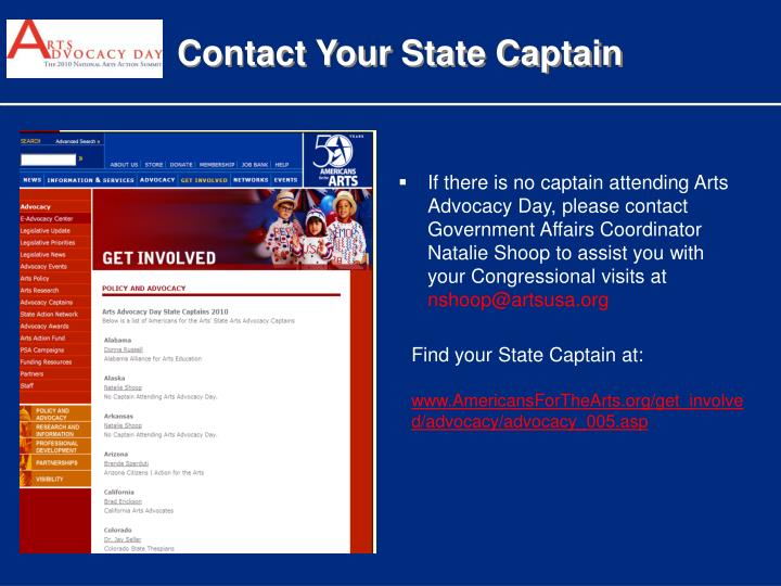 Contact Your State Captain
