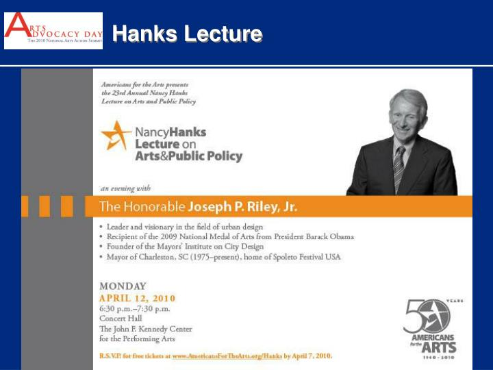 Hanks Lecture
