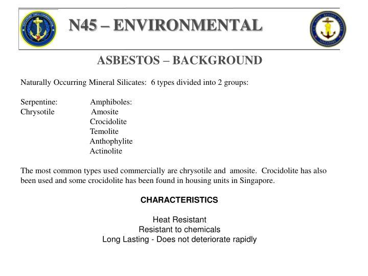 N45 – ENVIRONMENTAL