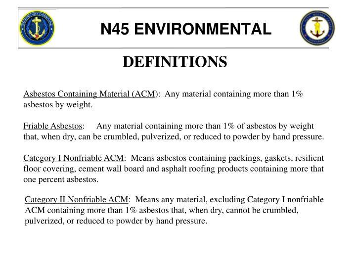 N45 ENVIRONMENTAL