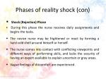 phases of reality shock con1