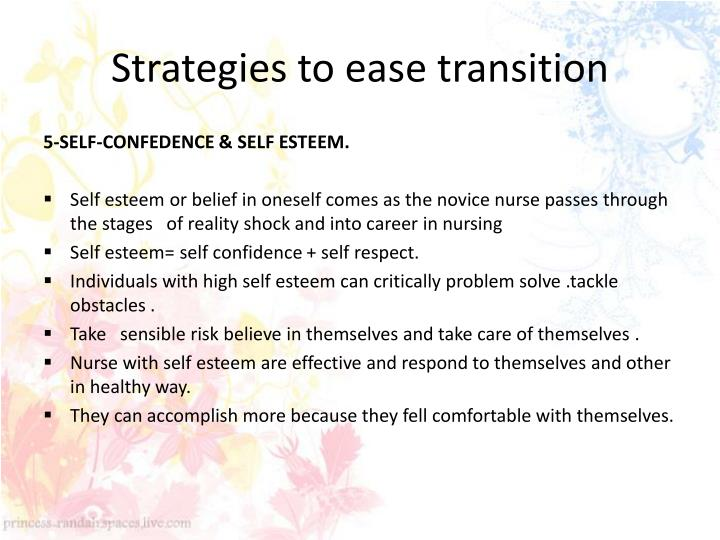 Strategies to ease transition