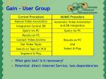 gain user group