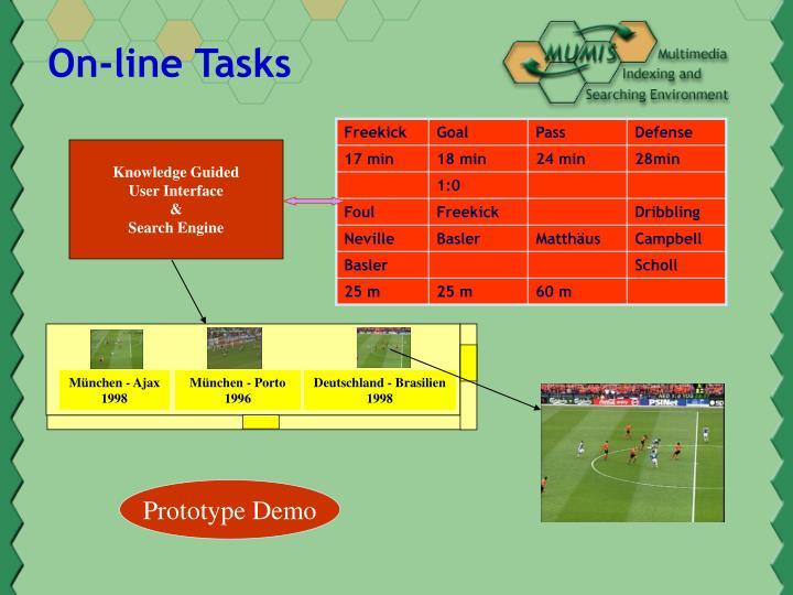 On-line Tasks