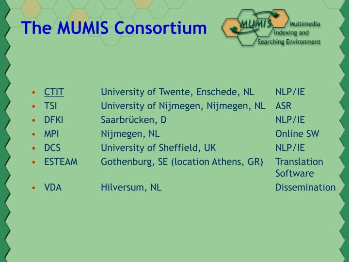 The MUMIS Consortium