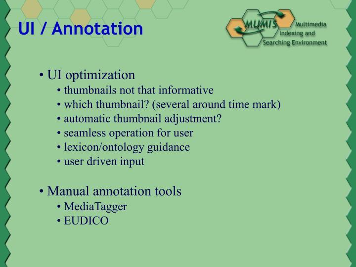 UI / Annotation
