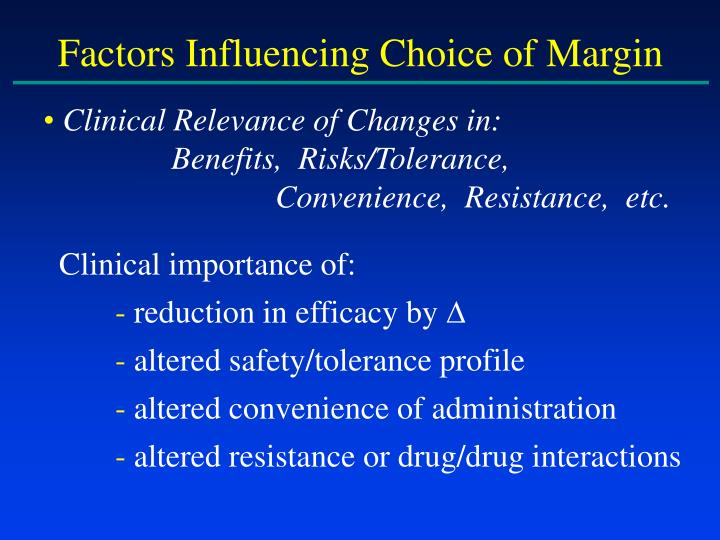 Factors Influencing Choice of Margin