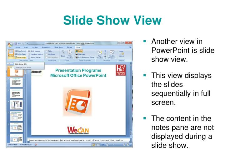 how to create a slideshow on powerpoint 2007