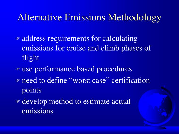 Alternative Emissions Methodology