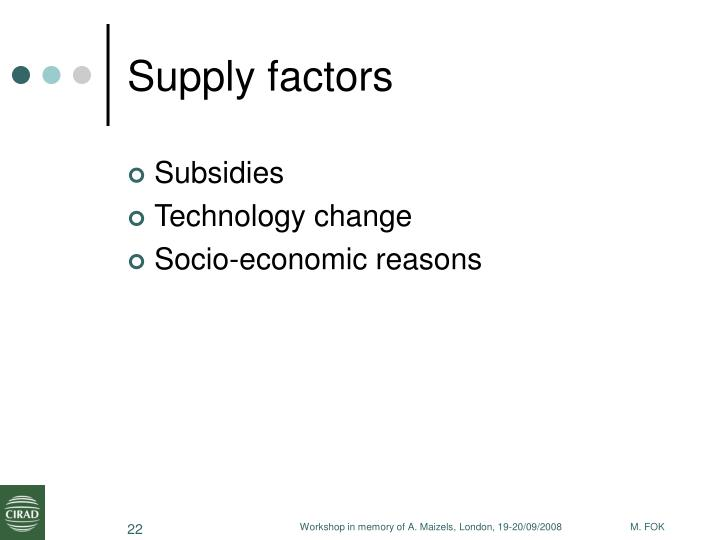 Supply factors