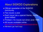 about sigkdd explorations